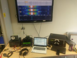 The station set-up used by GB2GP during the King of Spain SSB contest 2016